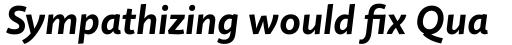 Quire Sans Bold Italic sample