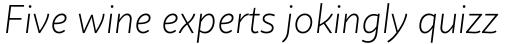Quire Sans Extra Light Italic sample