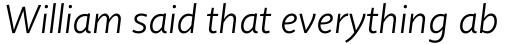 Quire Sans Light Italic sample