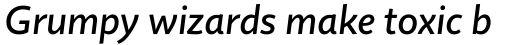 Quire Sans Medium Italic sample
