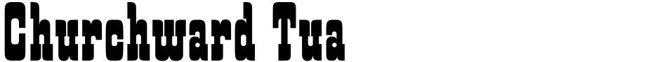 Click to view Churchward Tua font, character set and sample text