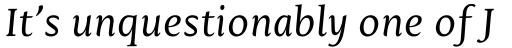 Mantika Book Pro Italic sample
