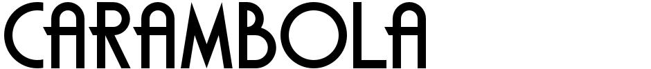 Click to view Carambola font, character set and sample text