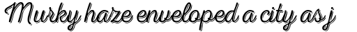 Nexa Rust Script T Shadow 1 sample