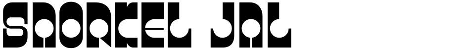 Click to view Snorkel JNL font, character set and sample text