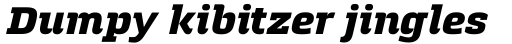 Quitador ExtraBold Italic sample