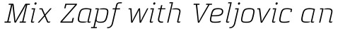 Quitador Light Italic sample