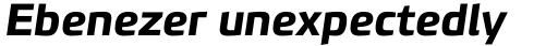 PF Benchmark Pro Bold Italic sample