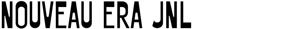 Click to view Nouveau Era JNL font, character set and sample text
