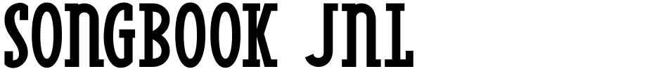 Click to view Songbook JNL font, character set and sample text