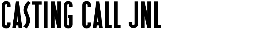 Click to view Casting Call JNL font, character set and sample text