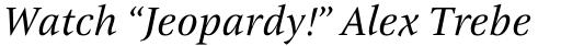 ITC New Veljovic Pro Italic sample