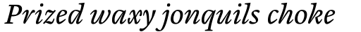 Cardamon Pro Italic sample