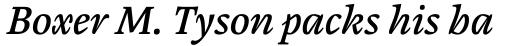 Cardamon Pro Medium Italic sample