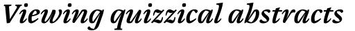 Cardamon Pro Semibold Italic sample