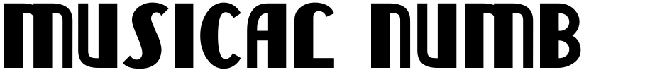 Click to view Musical Number JNL font, character set and sample text