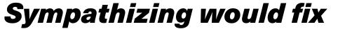 Neue Haas Unica Pro Black Italic sample