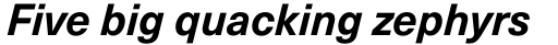 Neue Haas Unica Pro Bold Italic sample