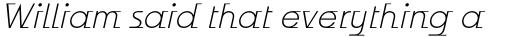 Odyssée Light Italic sample