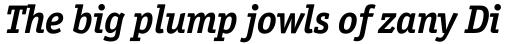 Officina Serif Bold Italic sample