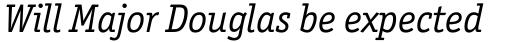Officina Serif Book Italic sample