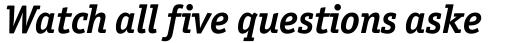 Officina Serif Bold Italic OS sample