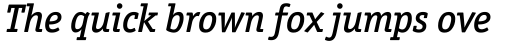 Officina Serif Medium Italic sample
