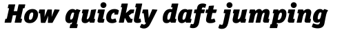 Officina Serif Black Italic OS sample