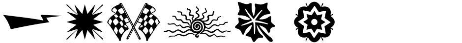 Click to view Print Shop Sorts JNL font, character set and sample text