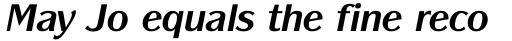 Panache Bold Italic sample