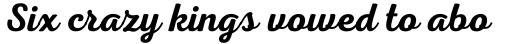 Nexa Script Semi Bold sample