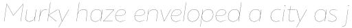 PF Bague Sans Std Hairline Italic sample