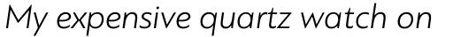 PF Bague Sans Std Light Italic sample