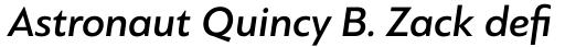 PF Bague Sans Std Medium Italic sample