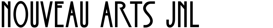 Click to view Nouveau Arts JNL font, character set and sample text