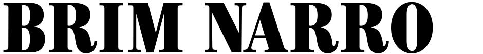 Click to view Brim Narrow font, character set and sample text