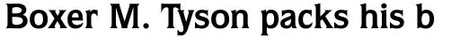 Quorum Bold sample