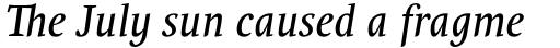 PF Occula Italic sample