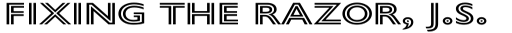 Gill Sans Nova Inline SemiBold sample