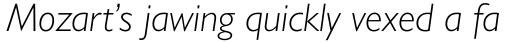 Gill Sans Nova Light Italic sample