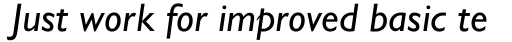 Gill Sans Nova Medium Italic sample