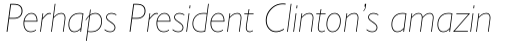 Gill Sans Nova UltraLight Italic sample