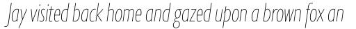 Gill Sans Nova Cond UltraLight Italic sample