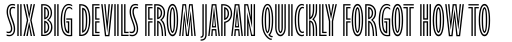 Gill Sans Nova Inline Condensed sample