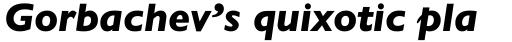 Gill Sans Nova Heavy Italic sample