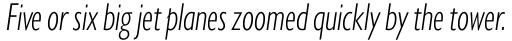 Gill Sans Nova Cond Light Italic sample
