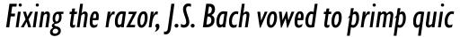 Gill Sans Nova Cond Medium Italic sample