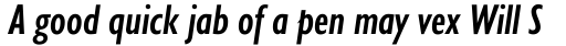 Gill Sans Nova Condensed Semi Bold Italic sample