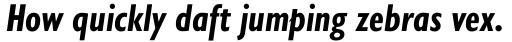 Gill Sans Nova Cond Bold Italic sample