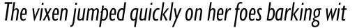 Gill Sans Nova Cond Book Italic sample